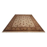 The Dunluce Hand-Knotted Wool Beige/Brown Area Rugs are meticulously hand-knotted in a uniquely opulent construction of wool. Classically elegant Persian designs are recreated with stunning detail and a sumptuous range of color. Luminous accents give each carpet an air of refinement that evokes delicacy of a master painter's brush strokes.