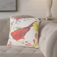 Benally Bird Flower Throw Pillow is beautiful throw accent pillow has unique designed print artwork or pattern to bring accent piece to your living room, dining room, bedroom.