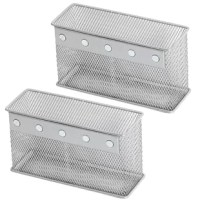 These Biggerstaff Wire Mesh Magnetic Storage Basket are attachable to any magnetic surfaces.