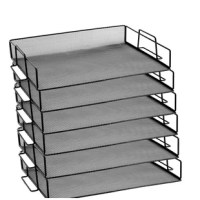 Keep your desk neat and tidy with this Bevins Steel Mesh Stackable Letter Paper Holder Shelf Tray Desktop Organizer. Enjoy the low prices on all office organization and supplies. Stack for maximizing desktop space. Interlocking feet ensure secure stacking of up to three trays. Stackable tray for files, papers, folders, envelopes, documents, etc... Can be used as one piece or buy them in quantity and stack them. Keep your desk neat and space saving. With its sleek finish and neat design, this...