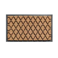 This first impression of this coir doormat is an excellent decorative accent for your doorway. This lovely doormat can also help remove dirt, debris, and moisture from the soles of your shoes.