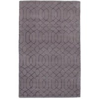 Elegant lines, soft geometric, and abstract elements combine for a beautiful transitional Hand-Tufted Wool/Silk Gray Area Rug. Its modern, graphic aesthetic is the perfect backdrop to your living space.