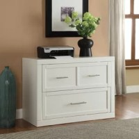 The lateral file provides ample file storage for your office. The simple lines and handles create a great look for your room.