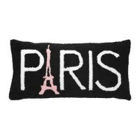 Add a sweet accessory to your French themed decor with this Latshaw Paris Lumbar Pillow. Featuring a unique hooked texture, this pillow includes a removable insert and convenient zipper closure for easy care.