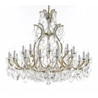 This Chandelier is great for the foyer, entryway, living room, family room and more! Nothing is quite as elegant as the fine crystal chandeliers that gave sparkle to brilliant evenings at palaces and manor houses across Europe. This two-tier version is decorated with the various crystal that captures and reflects the light of the candle bulbs, each resting in a scalloped bob ache. The timeless elegance of these chandeliers is sure to lend a special atmosphere in every home.