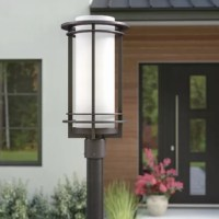 A stylish beacon fit for any outdoor space, this one-light post lantern shines a light on contemporary design at the forefront of your well-appointed home. At only 19