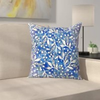 Get creative with your space using their original and beautifully designed Pattern Wc Blau Throw Pillow.
