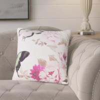 Vinita Butterfly and Flower Throw Pillow is beautiful throw accent pillow has unique designed print artwork or pattern to bring accent piece to your living room, dining room, bedroom.