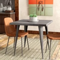 Dining tables are the center of attention in your dining area – they hold food and drinks during parties and everyone ends up sitting around them and talking. Don't let your table get the wrong kind of attention, upgrade your dining experience with this table. Perfectly at home in modern and contemporary, or industrial aesthetics, this fixed table is constructed from steel, in a gray finish.
