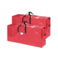 It's as easy as placing your artificial Christmas tree in the bag, zip it up and safely store it away until next year. The Christmas Tree Storage Bags come in red and has sturdy vinyl carry handles. No assembly required, just unpack, unfold, and insert your tree.