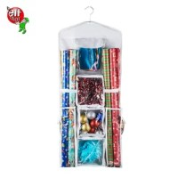 Storing your wrapping paper and gift bags has never been easier than with the Double-Sided Hanging Gift Wrap and Bag Organizer. Offering a space-saving design with maximum storage capability it is the perfect solution for your wrapping needs all year long.