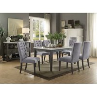 Bring this dining table to any dining room then it will instantly light up the room. The genuine marble table top will surely make any meal classier. Its sturdy wooden construction will also provide endless years of great dining.