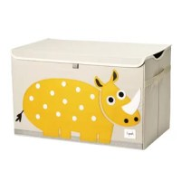 The Rhino Chest Toy Box is the perfect organizational tool for any room. With sides reinforced by cardboard, the toy chest stands at attention even when empty and the lid keeps all toys out of sight. Large enough to hold whatever you throw at it, this toy chest adds a pop of fun to every room. This box makes organizing a room full of toys easy.