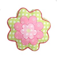 Add a fun touch to your bedroom decor with this pink Ewers Flower Shaped Cotton Decorative Throw Pillow with a unique shape and cute look, your little one will want to take this pillow with them everywhere they go.