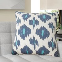 Instantly update any bed scape or seating ensemble with this product! Woven from 100% cotton, this product showcases a contemporary ikat motif in vibrant hues over white, while slender accent threading adds depth and dimension. Complete with a clean knife edge lends a tailored touch, this pillow awaits your preferred polyester or down and feather fill insert to round out the design.