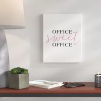 This canvas features the phrase office sweet office. Durable and lightweight, you take home artwork ready to hang. The result is a stunning piece of wall art you will love. Custom-made to order.