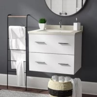 A contemporary update for any powder room, this 24