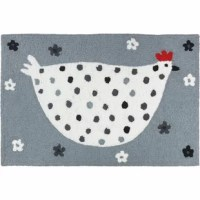 This durable Mcglynn Cool Chick Hand-Tufted White/Gray Indoor/Outdoor Area Rug will provide style to any patio or entrance way. The whimsical design is sure to put a smile on your face and is practical as well.