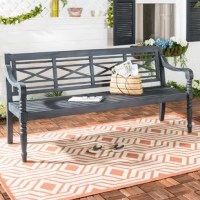 Welcome weathered character and classic style to any seating space with this garden bench, equally suited to sit inside your home or outdoors. Crafted from solid acacia wood, this weather-resistant piece spans 70
