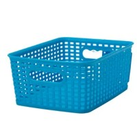 Get your home or office organized with this Plastic Bin! Perfect for keeping all those loose items in one place and organizing all the items you don't have a home for. Decorative for inside your closet or out in the open, this should fulfill your storage needs. Complete with two carrying handles for easy transportation and handling. Look no further they have just what you are looking for!