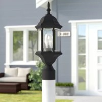 A must-have for front yards and mulch beds, post lanterns highlight hardscaped areas, such as pathways and driveways, and keep the entrance of your home safely lit for friends and family. This fixture sports a classic lantern design with a decorative finial top. Its housing is crafted from metal and awash in a matte finish. Clear seedy glass walls complete the look as they protect a 100 W medium base bulb (included) from the elements.