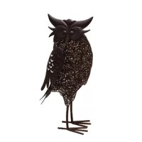 The metal steel silhouette of the owl features a feathered filigree design which holds an integral solar panel which charges up during the day. Hidden inside the body of the sculpture is an energy-saving LED light which automatically turns on at night to provide an eye-catching nighttime illumination design. The LED light can be control LED by an easily accessible on/off switch and when fully charged, this attractive solar light provides up to 6 hours of light.
