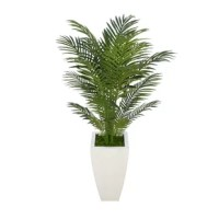 Looking for the feeling of a refreshing spa in your retreat? Adding our contemporary tropical areca palm will do the trick. This artificial palm has been arranged to allow 360° viewing (you won't find an unattractive side on this plant). It is securely