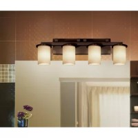 This Salinas 4-Light Vanity Light offers a wide selection of handcrafted artisan glass shades. This beautiful artisan glass finishes complement the clean designs of this fixtures.