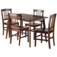 Kouts 5 Piece Solid Wood Dining Set