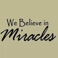 This We Believe in Miracles Faith Belief Sayings Wall Decal is produced with a nice quality vinyl in an indoor matte finish which gives the appearance of a professional hand-painted stencil look without the mess and hassle. Includes easy to follow step by step application instructions. Vinyl wall quotes are the latest trend in home and office decor and are a creative way to add a touch of class to any room in your home or office.