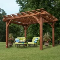 Transform the look of your outdoor living space with Backyard Discovery's 10 x 12 Pergola. This outdoor pergola is the perfect focal point for your patio.  The sizeable upper shade structure provides sizeable capacity for crawling vines and roses to not only add a vibrant appearance but also adds additional shade.  Our 10 x 12 standard wooden pergola kit has a 10 ft. x 12 ft. upper shade structure providing over 120 sq. feet of overhead shade options as well as 63 sq. feet of usable space...