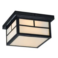 This outdoor flush mount is a craftsman mission style collection.