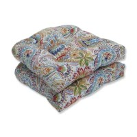 A richly textured white background is the perfect canvas that creates this lively paisley and floral design on this Outdoor Rocking Chair Cushion tufted seat cushions. Additional features of this outdoor tufted seat cushions include recycled polyester fiberfill with a sewn seam closure. Suitable for indoor and outdoor use.