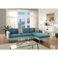 This 2 pieces sectional set can be a great inclusion in any interior, the set includes reversible chaise and sofa. A slim compact design that's out of this world is delivered with this 2 piece sectional in a smooth cotton blended fabric. Its design provides a sense of calm with clean lines and 2 toned hues. Enjoy a living space of the future. Sectional also includes accent pillows. It does not include the table or any featured product other than 1 reversible chaise and 1 sofa with accent...