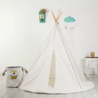 This 4 Wall Play Teepee with Carrying Bag can add style to any play space. Keep it simple or dress up to match any style. It comes with a window and ties back door panels for easy access.