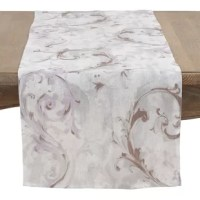 Fanciful piece that adds a touch of design drama without overwhelming. Gently swirled baroque-inspired strokes are both sophisticated and soothing at once.