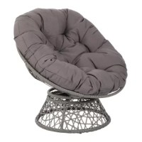 Kick back and relax with our Papasan Chair. Available in several fun fashion colors, the Papasan Chair will turn up the wow factor in any room. A great seating option for watching movies, gaming or just kicking back and taking it easy. Plush poly-fill cushion with channel pocket stitching creates billowing comfort. Cushion ties onto a woven wicker frame with a 360º degree swivel. The frame is steel wrapped in the beauty of the wicker. Simply untie the ample removable cushion and shake out to...
