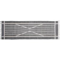 Graphics and organic, their One-of-a-Kind Hand-woven Cotton Gray Area Rug is made of 100% cotton and printed in a classic block printing technique. With a neutral color palette and fashion-forward patterns, this is the piece you can build a room around.