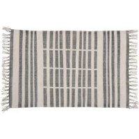 Graphics and organic, their Handwoven Flatweave Cotton Gray Area Rug is made of 100% cotton and printed in a classic block printing technique. With a neutral color palette and fashion-forward patterns, this is the piece you can build a room around.