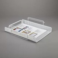 This Edmundson Punched Metal Letter Tray is self-stacking. The unique interlocking trays can stack facing in the same or opposite directions to accommodate open office designs.