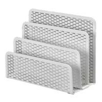 This Punched Metal Letter Sorte has three sections to organize letters, note pads, sticky notes, and office supplies.