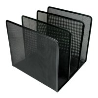 The Mesh Metal Desktop File Sorter can hold and organize large catalogs, expanding files, file folders, writing pads, and even binders up to 3