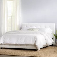 If you want to have sweet dreams, it starts with a good bed – and if you're still looking for the right one, this product is here to help. Crafted from solid and manufactured wood, it showcases a platform design with clean lines, working well in a variety of aesthetics from traditional to contemporary. Upholstered in faux leather for an inviting feel, while button-tufted detailing elevates your space in style. Plus, this piece is backed by a one-year warranty.