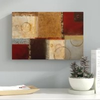 Bring a splash of contemporary style to your walls with this graphic art print! Using warm colors and distinctive brushstrokes, this image showcases several overlapping squares and subtle patterns. This artful image is printed on canvas using high-quality inks, then hand-stretched and gallery wrapped over a wooden stretcher bar frame for a gallery-worthy display. Made in the USA, this piece arrives fully assembled and ready to hang right out of the box with wall-mounting hardware included for...