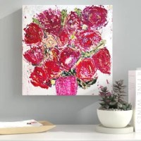 Make any space in your home innovative and unique by adding this Modern & Contemporary art piece made by real artists. With an overarching Red color and Textured texture that will add a dynamic feel to your home décor. This Floral & Botanical wall décor is printed using ultra-premium and fade resistant inks to guarantee high definition and vivid colors. Each piece is made with museum grade canvas professionally hand stretched in a 1.5 inch-thick wood frame. Our wall art is carefully wrapped...