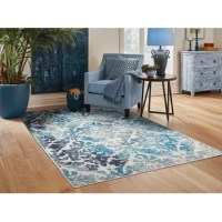 This great area rug adds texture to the floor and complements any decor.