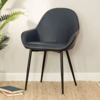 This Zosia Mid Century Modern Upholstered Dining Chair is a stylish one that is sure to impress, with its unique design that attracts the eye, it will get the conversation flowing. The winged back makes anyone sitting at your dining room table feel both important and empowered, while still giving them a comfortable seat on which to enjoy your food. The manufacturer offers different selections of crafted metal chairs, dining chairs, and bar counter stools. Just kindly check the store and sneak a...