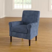 Add an extra spot to the den for movie nights or accent your master suite ensemble with this classic arm chair, it features a manufactured wood frame founded atop four legs and measuring 35'' H x 28'' W x 30'' D. Foam padding lends comfort to the seat, while polyester blend upholstery in a solid hue wraps around to tie it all together. Plus, this product comes backed by a 25-year limited warranty from the manufacturer.