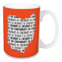 Show off your state pride and support your local football team with this Fralick Go Cincinnati Coffee Mug. This exclusive design and large handles for easy gripping. This is a great gift for football fans.