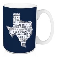 Show off your state pride and support your local football team with this Frampton Go Dallas Coffee Mug. This exclusive design and large handles for easy gripping. This is a great gift for football fans.